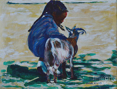 Petting Painting - Petting Zoo by Charles M Williams