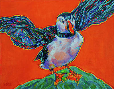 Petty Harbour Puffin Original by Derrick Higgins