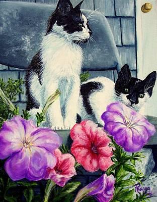 Petunia Kittens Art Print