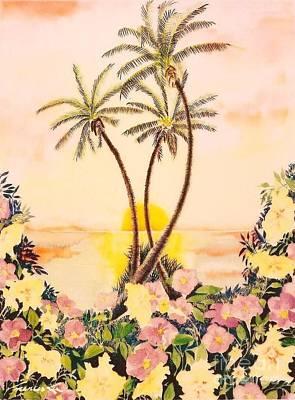 Painting - Petunia Paradise by Frances Ku
