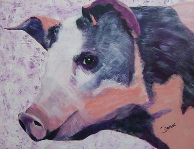 Painting - Petunia Pig by Denise Hills