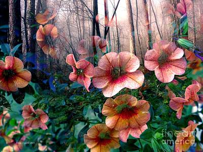 Petunias In The Forest Art Print
