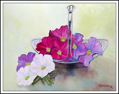 Painting - Petunias by Mariarosa Rockefeller