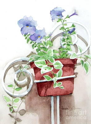 Painting - Petunias by Sandra Neumann Wilderman