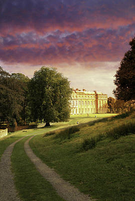 Photograph - Petworth House Red Sky by Michael Hope