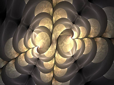 Digital Art - Pewter And Gold by Lea Wiggins