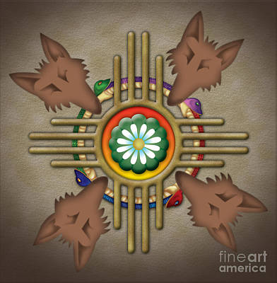Digital Art - Peyote Coyote by Timothy Lowry