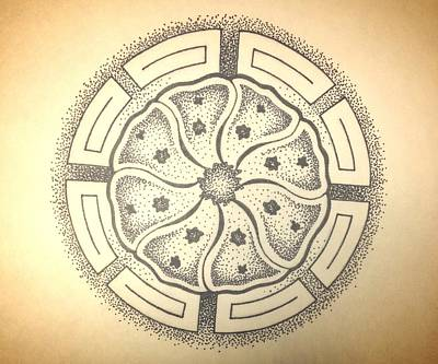 Hopi Drawing - Peyote In Dots by Noah Babcock