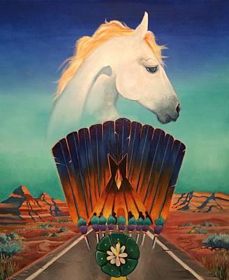 Essence Of Life Painting - Peyote Road by Sean Begaye