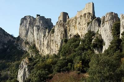 Chateau Photograph - Peyrepertuse Castle by Bob Gibbons