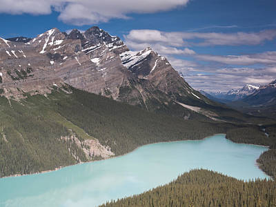 Photograph - Peyto Lake And Caldron Peak by Richard Berry