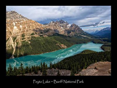 Photograph - Peyto Lake Poster by Kathleen Bishop