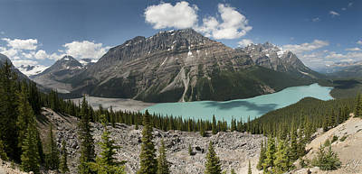 Photograph - Peyto Panorama by Kenneth Hadlock