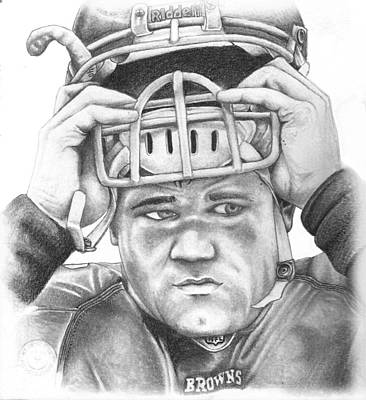 Razorback Drawing - Peyton Hillis by Mike Shaw