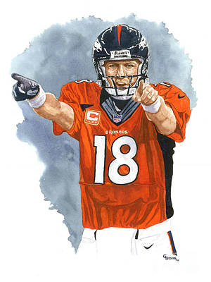 Peyton Manning - 2014 Original by George  Brooks