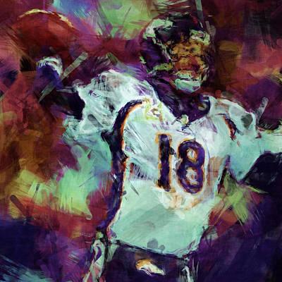 Peyton Manning Abstract 1 Art Print
