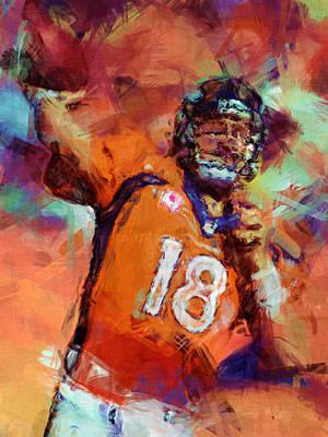 Peyton Manning Abstract 4 Art Print