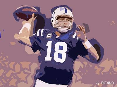 Photograph - Peyton Manning Abstract Number 2 by George Pedro