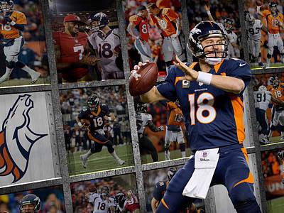 Broncos Photograph - Peyton Manning Denver Broncos by Joe Hamilton