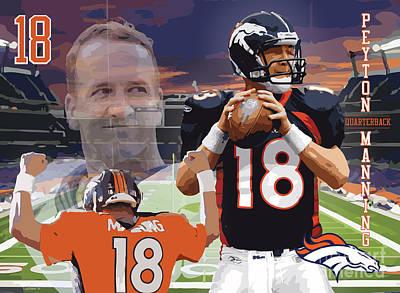Peyton Manning Art Print by Israel Torres