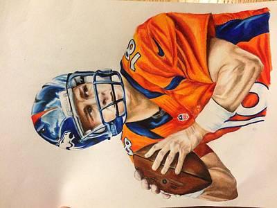 Peyton Manning Art Print by Samantha MacFall
