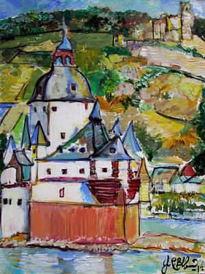 Painting - Pfalz Castle  by Jon Baldwin  Art