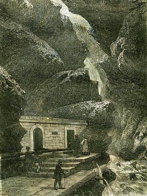 Switzerland Drawing - Pfeffers Switzerland 19th Century by Swiss School