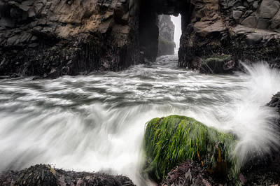 Pfeiffer Beach Photograph - Pfeiffer Beach Keyhole Rock by Chris Frost