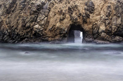 Pfeiffer Beach Keyhole Rock Fog Art Print by Chris Frost