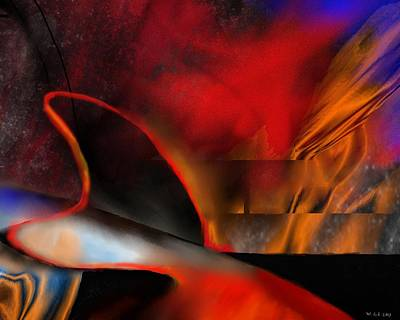 Abstract Digital Painting - Phaeton by Wolfgang Schweizer
