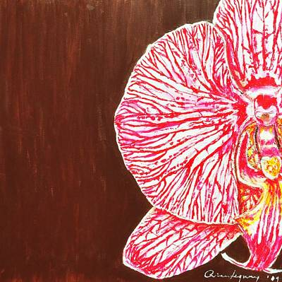 Painting - Phalaenopsis Exposed by Arianne Lequay