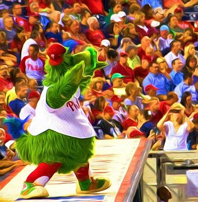 Phanatic In Action Art Print by Alice Gipson