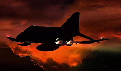 Air Force Digital Art - Phantom Burn by Peter Chilelli