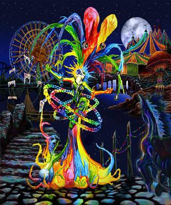 Jester Digital Art - Phantom Carnival by Kd Neeley