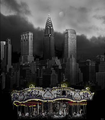Phantom Carousel Art Print by Larry Butterworth
