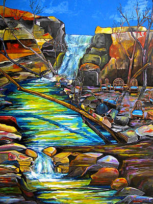 Painting - Phantom Falls Ranch by Patti Schermerhorn