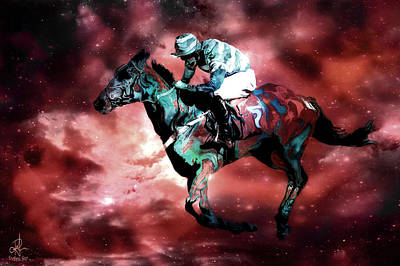 Digital Art - Phantom Jockey by Pennie  McCracken