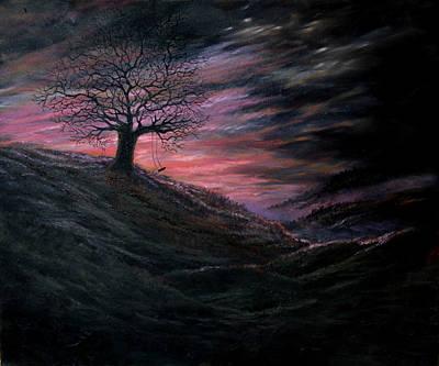 Spooky Scene Painting - Phantom by Artist Karen Barton