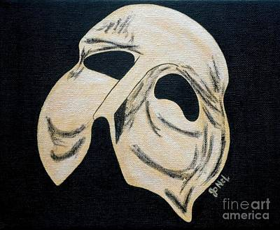 Mardi Gras Painting - Phantom Mask by JoNeL Art