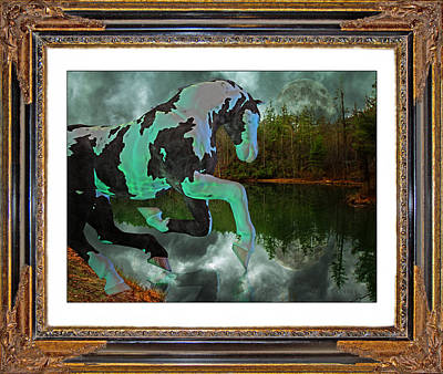 Cloudy Mixed Media - Phantom On The Lake by Betsy Knapp