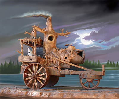Steam Tractor Digital Art - Phantom Steam Tractor by Stuart Swartz