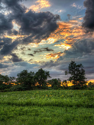 Photograph - Phantom Sunset Over Sunflower Fields  by Jenny Ellen Photography