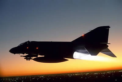 Navy Jets Photograph - Phantom Sunset by Peter Chilelli