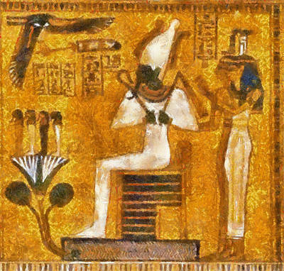 Art Print featuring the painting Pharaoh  by Georgi Dimitrov