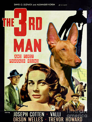 Pharaoh Hound Art Canvas Print - The Third Man Movie Poster Art Print by Sandra Sij