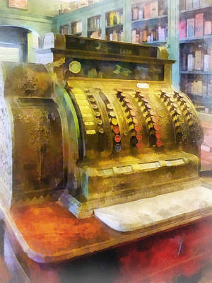 Pharmacist - Cash Register In Pharmacy Art Print by Susan Savad
