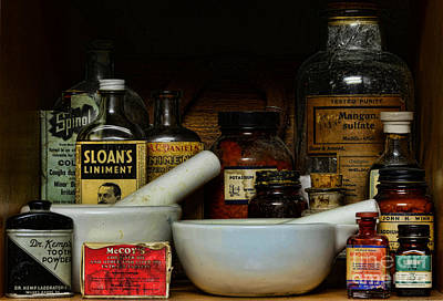 Pharmacist - Cod Liver Oil And More Art Print by Paul Ward