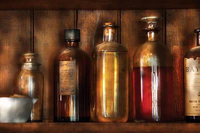 Pharmacist - Various Elixirs  Print by Mike Savad