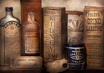 Photograph - Pharmacy - Cures For The Bowels by Mike Savad