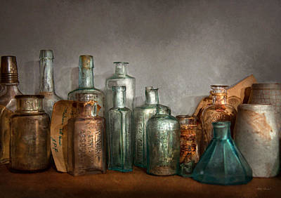 Broken Bottle Photograph - Pharmacy - Doctor I Need A Refill  by Mike Savad